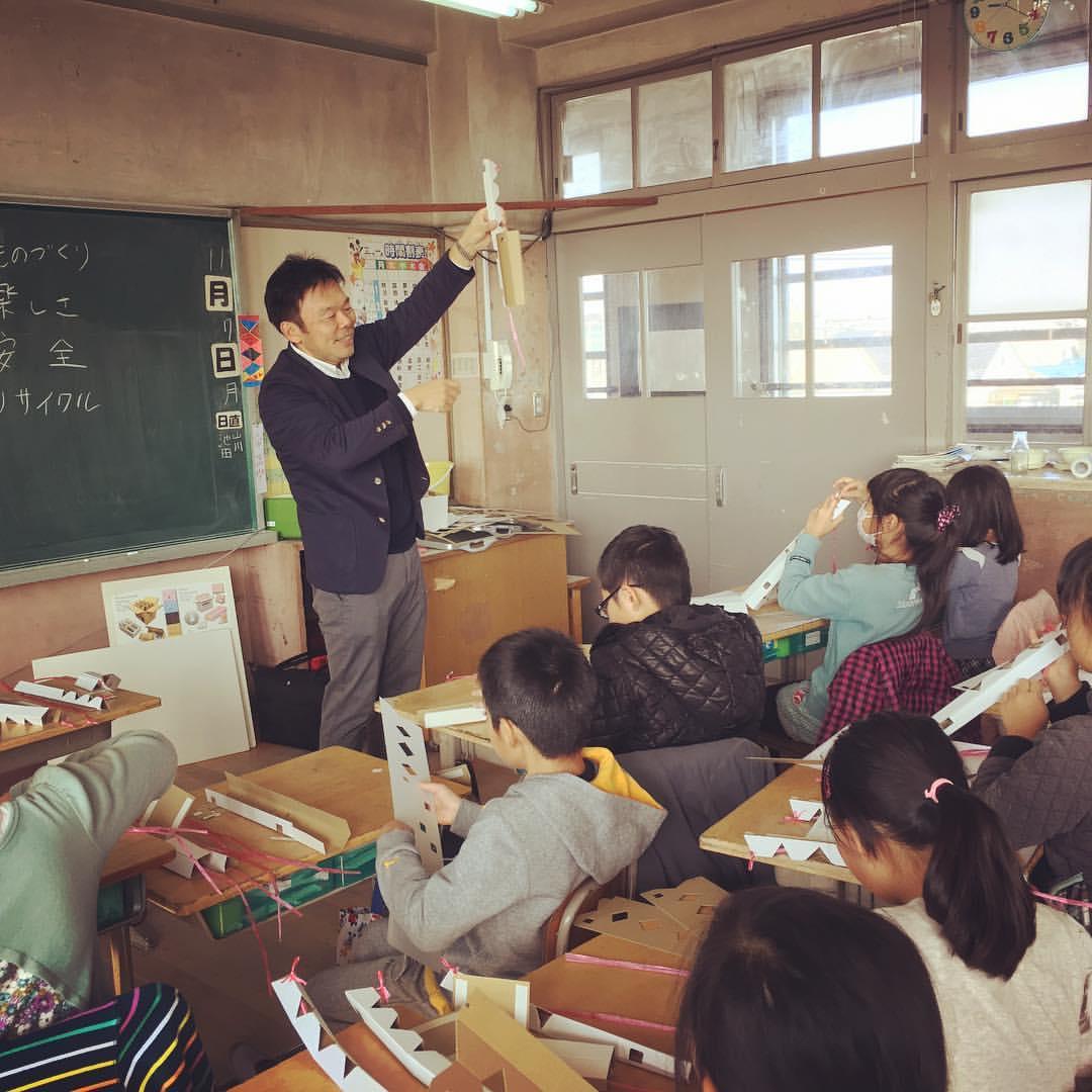 本日のモノづくり体験教室>グッズ工作体験教室