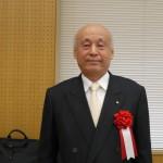 モノ作り体験教室講師歴10年の表彰者:日本化線株式会社 代表取締役社長 笠野輝男様