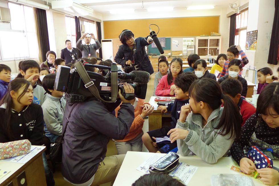 モノづくり体験教室>めっき・ダーツ体験教室@英田北小学校