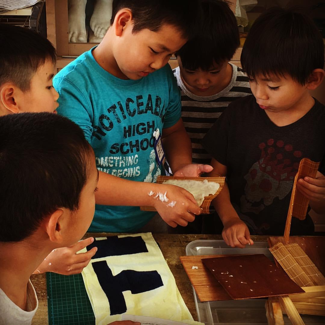 紙すき体験教室@西堤小学校