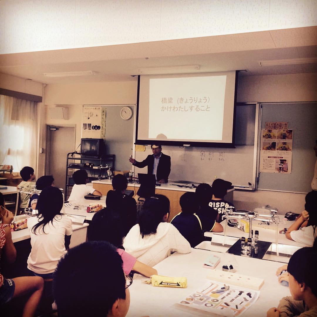 ネジの仕組み体験教室@弥刀東小学校