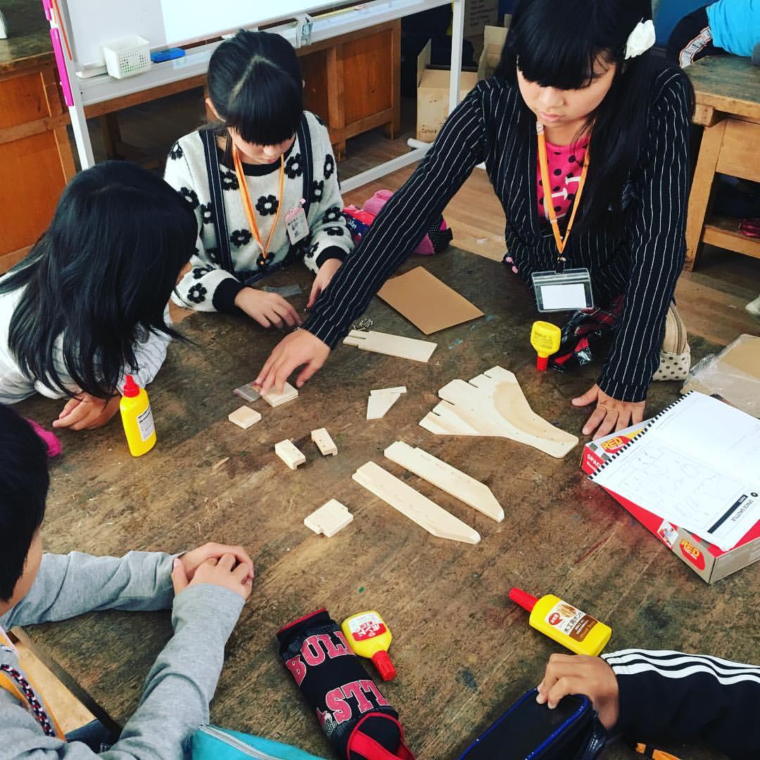 工具と木工体験教室@縄手東小学校