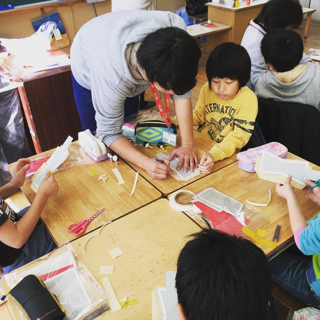 本日のモノづくり体験教室>ひな人形体験教室